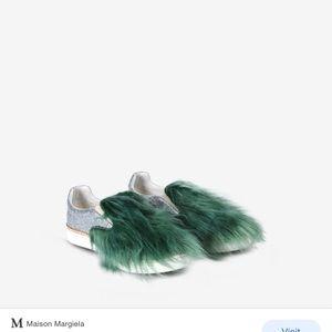 NWOB Maison Margiela faux fur skater shoes.Size 37